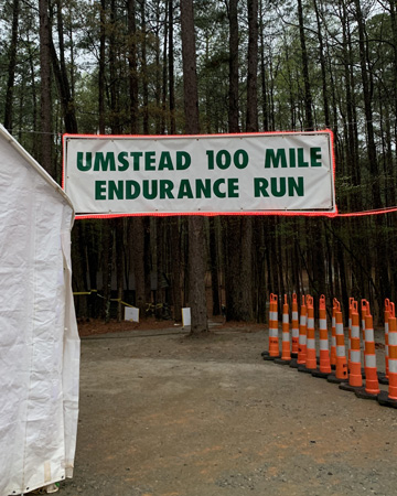 Umstead Start and Finish Line