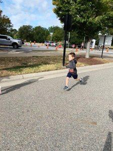 My eldest running the 1k course.