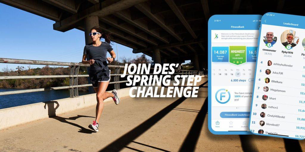 Des Linden Step Challenge Banner